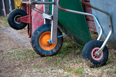 Wheel barrows Royalty Free Stock Images