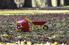 Wheel barrows for children royalty free stock photos