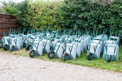 Wheel barrows Stock Images