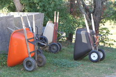Wheel Barrows Royalty Free Stock Photography