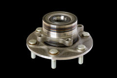 Wheel bearing kit for car on black Royalty Free Stock Photos
