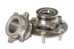 Wheel bearing kit for car on white. Isolated stock photo