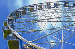 Wheel. A beautiful wheel of review is in the center of city Stock Image