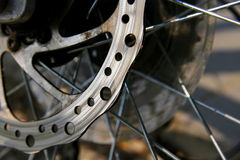 Wheel of a bicycle Stock Photography