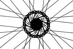 Wheel bike bicycle. Mountains sports spoke cycle brake Stock Photos
