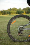 Wheel of bike on nature background Stock Photo
