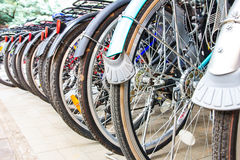 Wheel of bikes Stock Photos