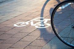 Wheel_bikeway Imagens de Stock Royalty Free
