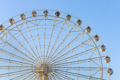 wheel on blue sky Royalty Free Stock Image