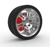 Wheel and brake stock illustration