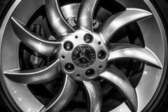 Wheel and brake system of Mercedes-Benz SLR McLaren. Royalty Free Stock Image