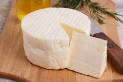 Wheel of brazilian traditional cheese Minas Stock Photography