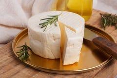 Wheel of brazilian traditional cheese Minas Royalty Free Stock Photography
