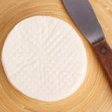 Wheel of brazilian traditional cheese Minas Royalty Free Stock Photos