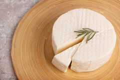 Wheel of brazilian traditional cheese Minas Royalty Free Stock Images