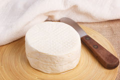 Wheel of brazilian traditional cheese Minas Royalty Free Stock Photo