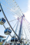 Wheel of Brisbane Ferris wheel on Brisbane`s Southbank. Royalty Free Stock Images