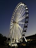 Wheel of brisbane ferris wheel Southbank views spectacular at night Brisbane river and city views fun perfect night Stock Photo