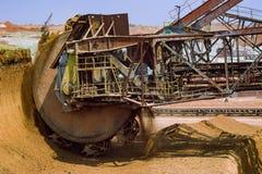 Wheel of bucket wheel excavator. Stock Photos