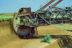Wheel of bucket wheel excavator. Stock Photography
