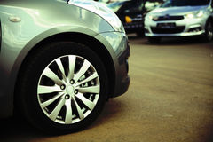 Wheel and bumper Royalty Free Stock Photography