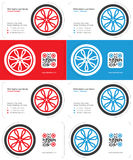 Wheel business card Royalty Free Stock Photography