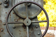 Wheel of a cannon -detail Royalty Free Stock Images