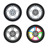 The wheel of the car Stock Photography