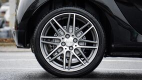 Wheel on car Royalty Free Stock Photo