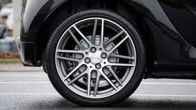 Wheel on car