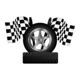 Wheel car emblem icon. Illustration design Royalty Free Stock Images