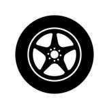 Wheel car emblem icon. Illustration design Stock Photos