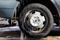 Wheel   car  rubber Stock Photo