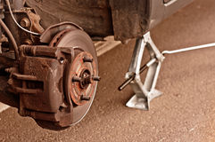 Wheel of a car without tire Royalty Free Stock Image