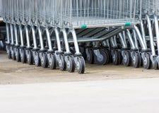 Wheel Cart,Shopping carts wheels closeup Stock Photo