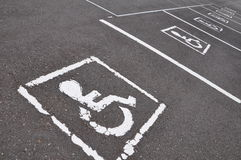 Wheel chair. Sign with traffic symbol Stock Photography
