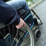 Wheel chair stock photography
