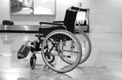 Wheel chair. The wheel chair in the airport Stock Photo