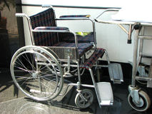 Wheel Chair. A wheel chair for patients in a hospital Royalty Free Stock Photos