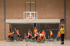 Wheel chair basketball Stock Photos