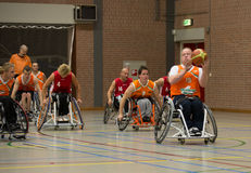 Wheel chair basketball Royalty Free Stock Photos