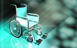 Wheel chair in a clinic Stock Photo