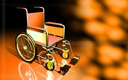 Wheel chair in a clinic Stock Image