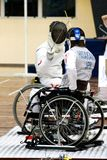 Wheel Chair Fencing Royalty Free Stock Photo