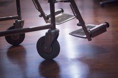 Wheel chair in hospital clinic semi silhouette Stock Photography