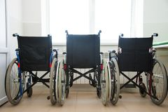 Wheel chair in the hospital Royalty Free Stock Photography