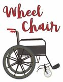 Wheel Chair Illustration vector in side view vector illustration
