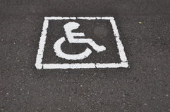 Wheel chair logo Royalty Free Stock Photo