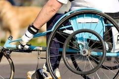 Wheel chair marathon royalty free stock photo