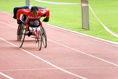 Wheel Chair Race Royalty Free Stock Photography
